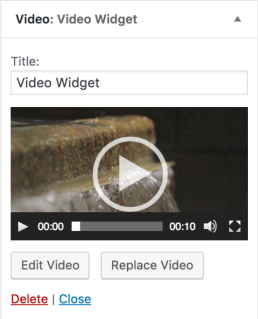 Fitur Terbaru Di WordPress 4.8 - video widget