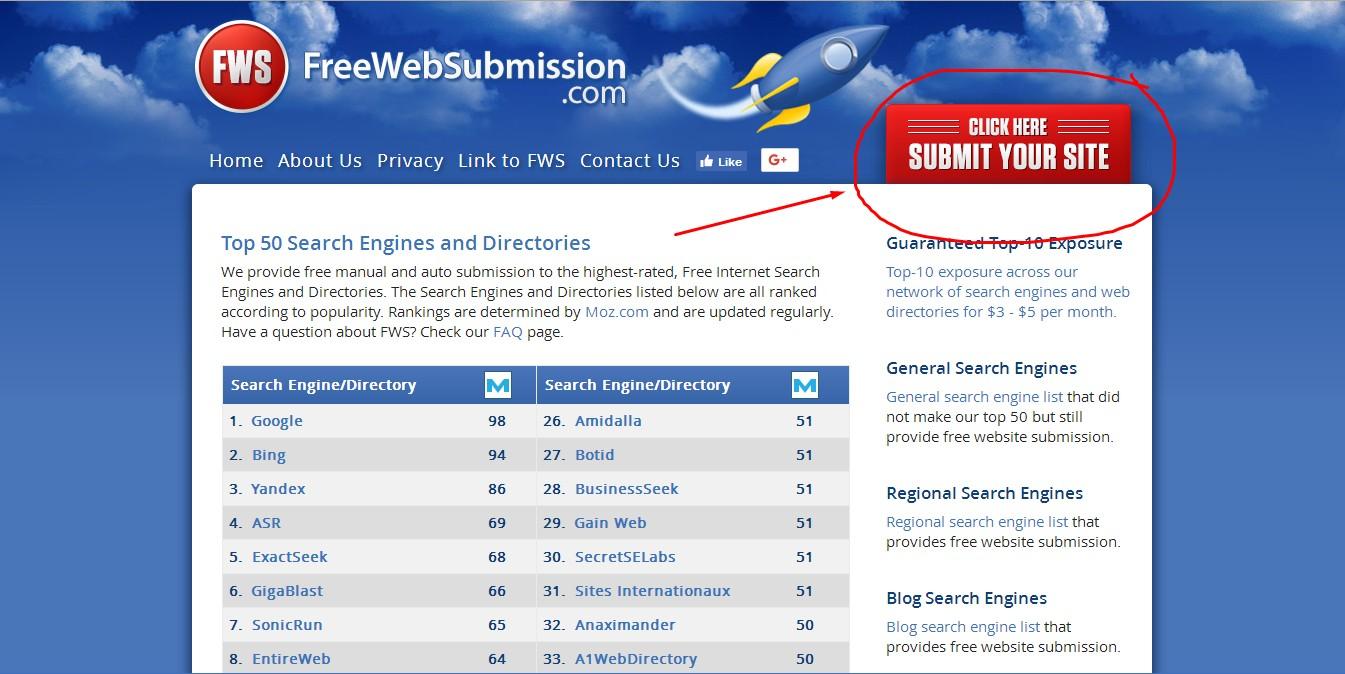 Cara Submit atau Mendaftarkan Blog Di 50 Lebih Search Engine