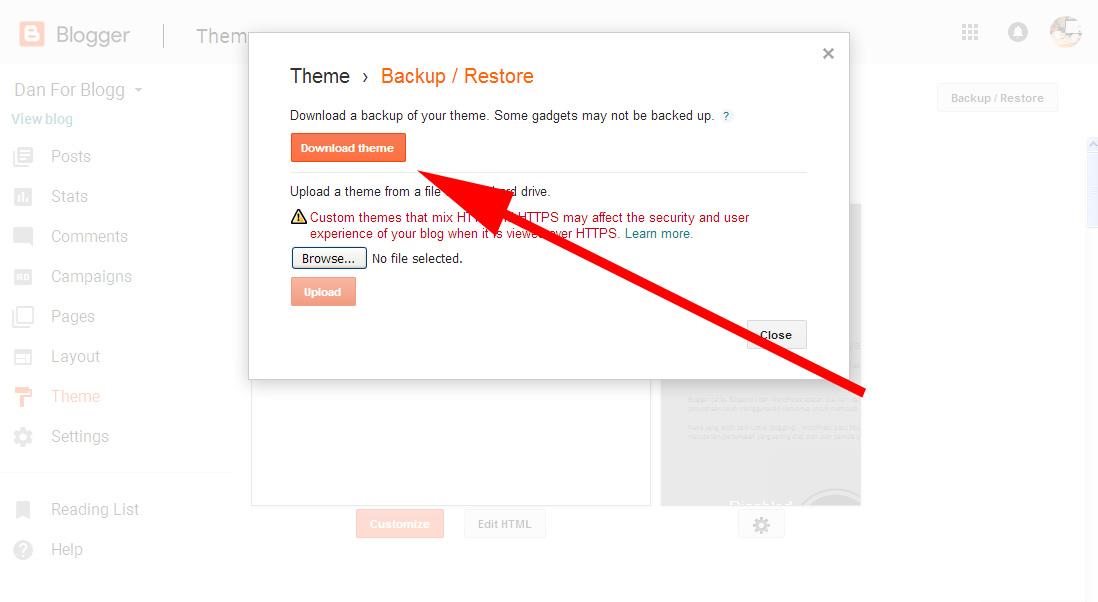 Cara Mengganti Template Hasil Download untuk Blogspot 4