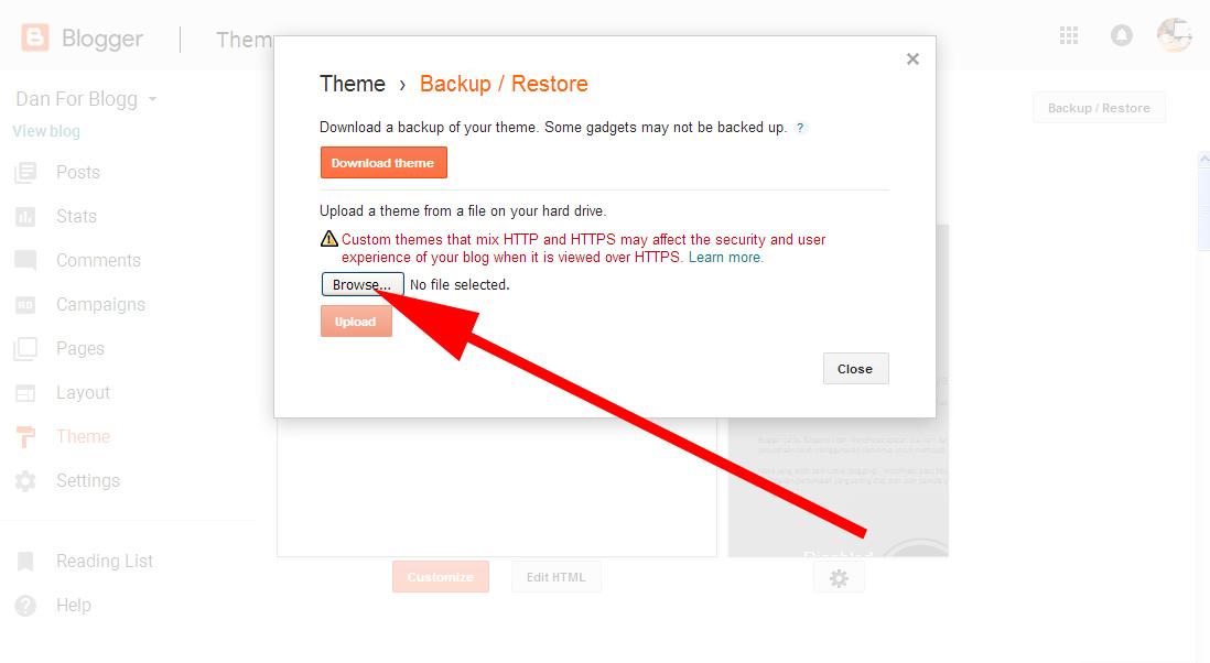 Cara Mengganti Template Hasil Download untuk Blogspot 6
