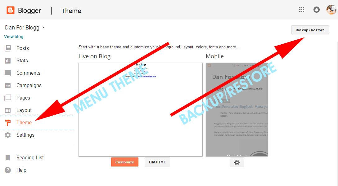 Cara Mengganti Template Hasil Download untuk Blogspot 2