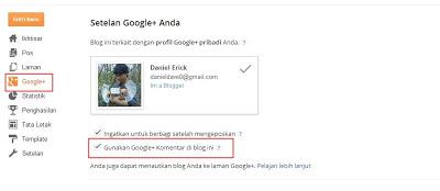 Cara Mengaktifkan Komentar Google Plus di Blogger