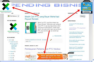 Cara mudah Memasang Iklan Melayang di Blog