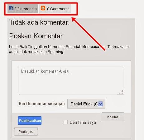 Cara Membuat Komentar Facebook dan Blog Berdampingan