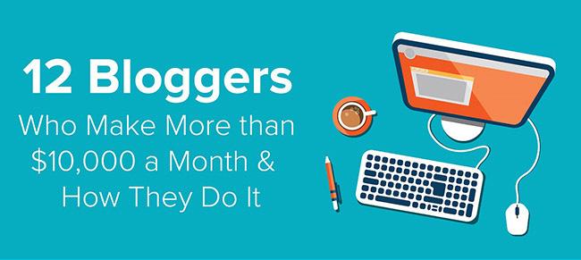 12 Blogger Sukses Dengan Penghasilan Lebih Dari 10.000 Dollar Perbulan
