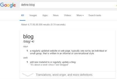 Hal Menarik yang Bisa Di lakukan Google Search - pemngertian kata