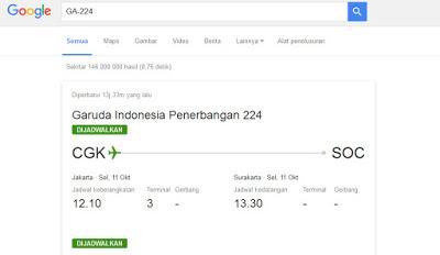 Hal Menarik yang Bisa Di lakukan Google Search - Jadwal Penerbangan