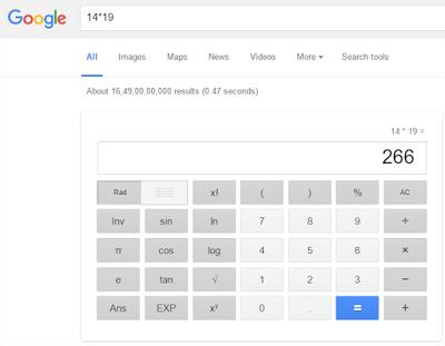 Hal Menarik yang Bisa Di lakukan Google Search - Kalkulator