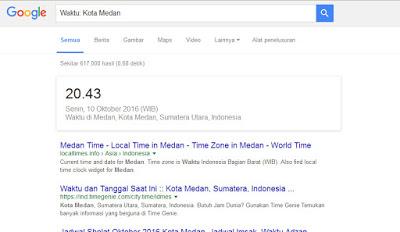Hal Menarik yang Bisa Di lakukan Google Search - waktu kota