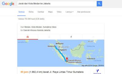 Hal Menarik yang Bisa Di lakukan Google Search - Jarak Antara Kota