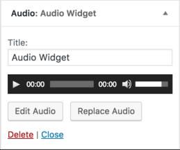 Fitur Terbaru Di WordPress 4.8 - audio widget