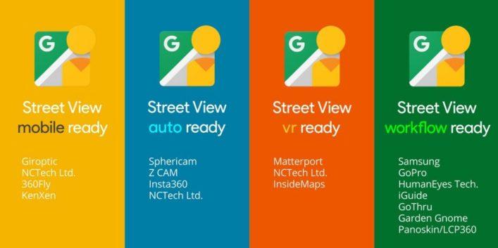 Kamera 360-derajat yang kompatibel Street View