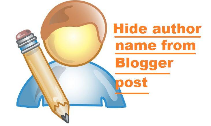 Cara Menyembunyikan Nama Penulis dan Label dari Pos Blogger