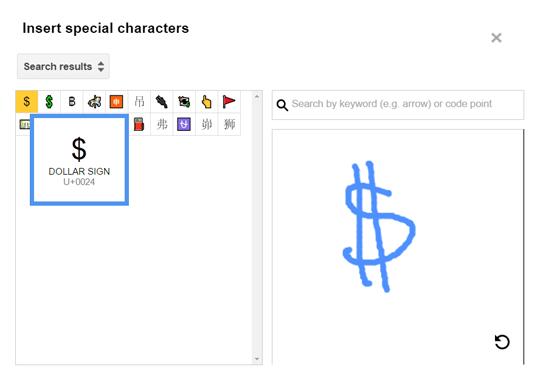 Pencarian Karakter Khusus menggunakan gambar