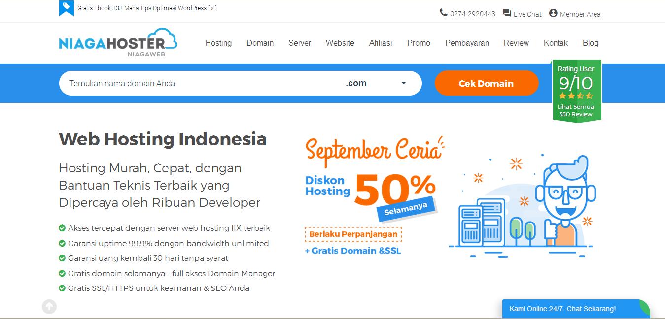 NIAGAHOSTER - Penyedia Hosting Lokal Indonesia Terbaik Andalan Saya
