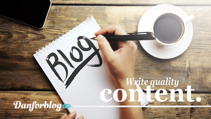 Tips Membuat Konten Blog Yang Berkualitas