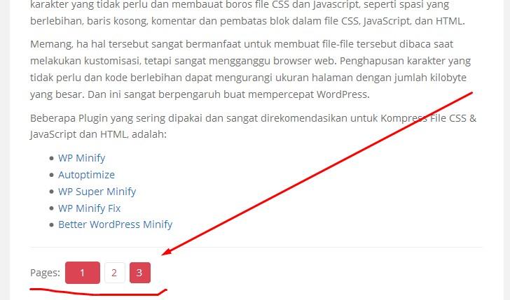 Pembagian Laman Artikel Pada WordPress